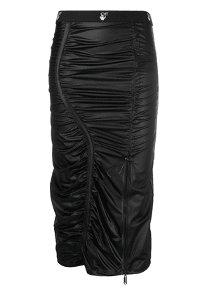 Off-White ruched mid-length pencil skirt - Black