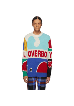 Charles Jeffrey Loverboy Multicolor Knit Logo Graphic Sweater