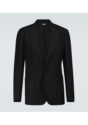 SIngle-breasted wool jersey blazer