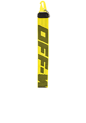 OFF-WHITE 2.0 Key Holder in Yellow & Black - Yellow. Size all.