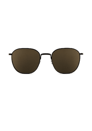 Oliver Peoples x The Row Board Meeting 2 Sunglasses in Matte Black & Dark Grey Mirror Gold - Black. Size all.