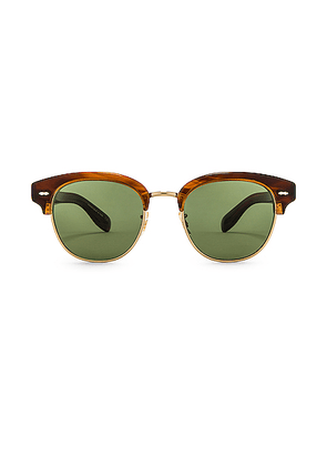Oliver Peoples Cary Grant 2 Sunglasses in Tortoise & Jade - Brown. Size all.