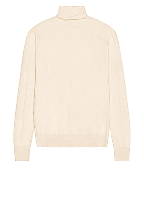 Amiri Fitted Wool Turtleneck in Alabaster - Neutral. Size L (also in ).