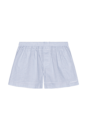 JACQUEMUS Boxers in Light Blue - Blue,Plaid. Size 46 (also in 48,50,52).