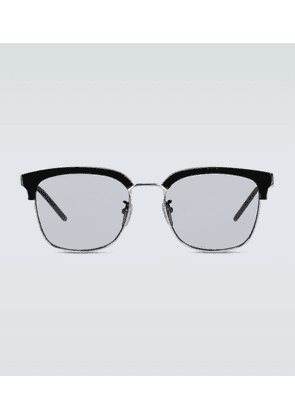 Square-framed acetate glasses