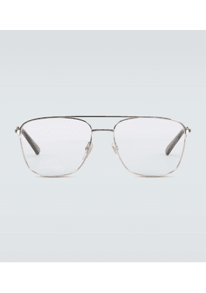 Square-framed aviator glasses
