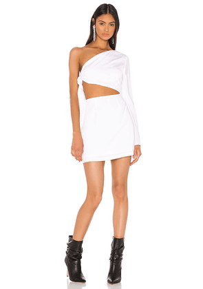 superdown Essie One Shoulder Dress in White. Size XS.