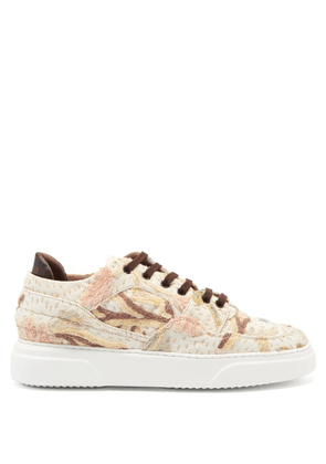 By Walid - 19th-century Crewel-tapestry Trainers - Mens - Beige