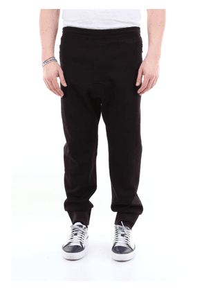 Neil Barrett solid color gym pants with side bands
