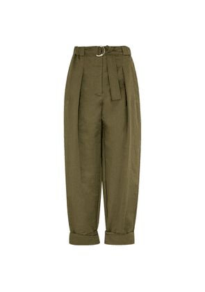 3.1 Phillip Lim Army Green Belted Twill Trousers