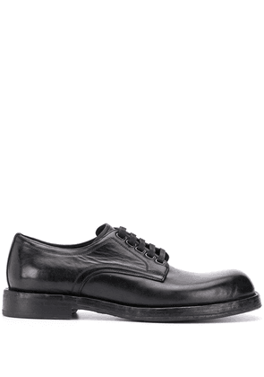 Dolce & Gabbana lace-up leather derby shoes - Black