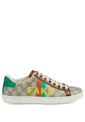 Gucci 'Fake/Not' print Ace sneakers - Neutrals