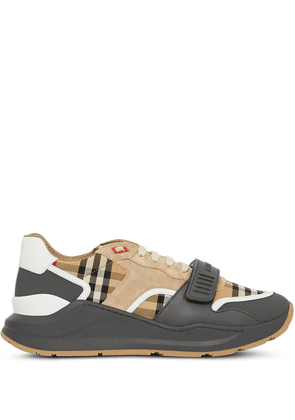 Burberry vintage check sneakers - GREY/ARCHIVE BEIGE
