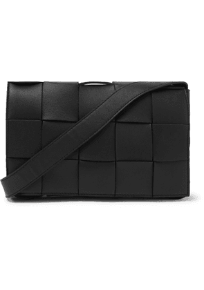 Bottega Veneta - Intrecciato Leather Messenger Bag - Men - Black