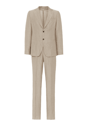 EIDOS Single-Breasted Wool-Linen Blend Suit