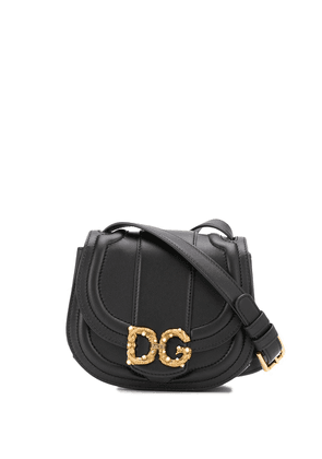 Dolce & Gabbana DG plaque saddle bag - Black
