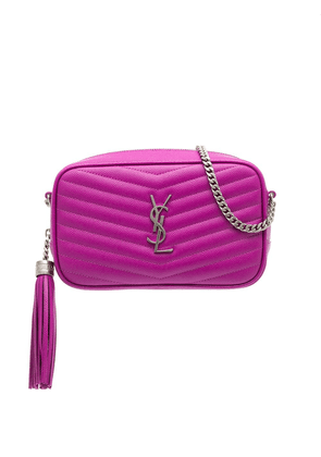 Saint Laurent Lou quilted crossbody bag - PINK
