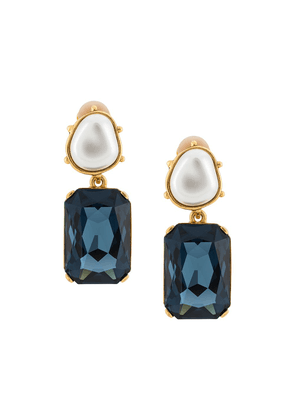 Oscar de la Renta crystal drop earrings - GOLD