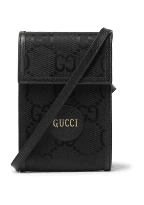 Gucci - Off the Grid Leather-Trimmed Monogrammed ECONYL Canvas Messenger Bag - Men - Black