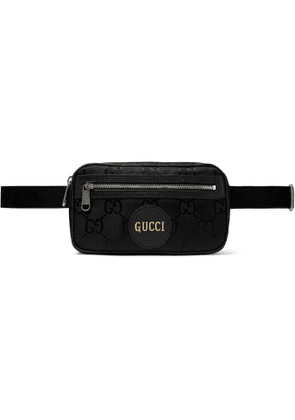 Gucci - Off the Grid Leather-Trimmed Monogrammed ECONYL Canvas Belt Bag - Men - Black