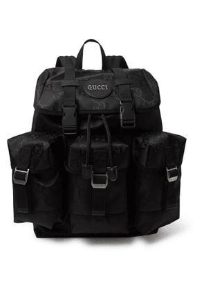 Gucci - Off the Grid Leather-Trimmed Monogrammed ECONYL Canvas Backpack - Men - Black