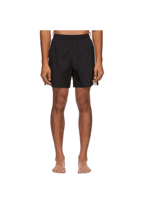 Alexander McQueen Black and Off-White Contrast Swim Shorts
