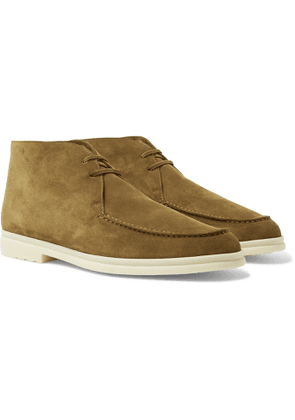 Loro Piana - Walk and Walk Cashmere-Lined Suede Boots - Men - Brown
