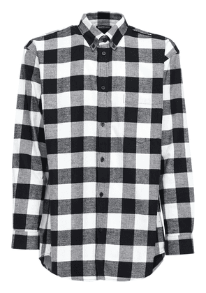 Over Check Cotton Flannel Shirt