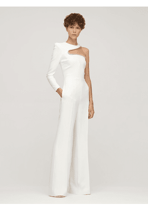One-shoulder Cady Evening Jumpsuit