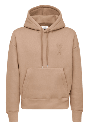 Embroidered Logo Cotton Blend Hoodie