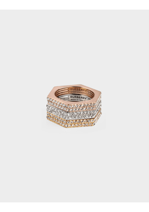 Rings Bolt Trio with Crystals