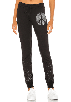 Lauren Moshi Jess Sweatpant in Black. Size M,S,XS.