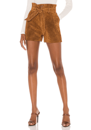 Le Superbe Almost Famous Short in Brown. Size 4,6,8.