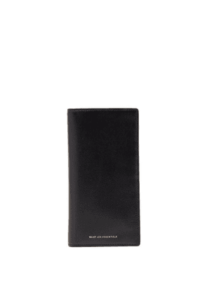 Want Les Essentiels - Fleming Textured-leather Wallet - Mens - Black Multi