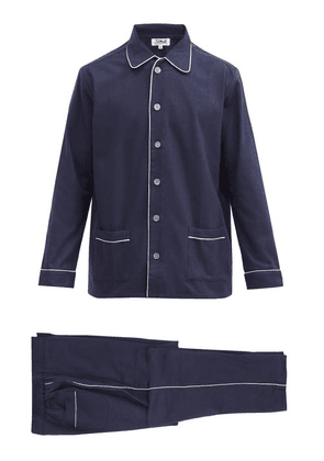 P. Le Moult - Piped Cotton Pyjamas - Mens - Navy