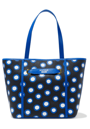 Boutique Moschino Polka-dot Textured-leather Tote Woman Black Size --