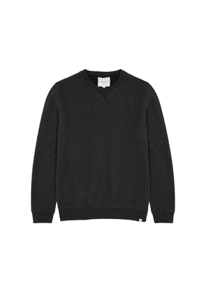 Derek Rose Devon Charcoal Brushed Cotton Sweatshirt