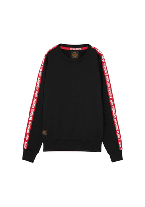Alpha Industries Black Cotton-blend Sweatshirt