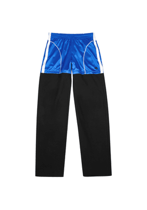 Balenciaga Layered Satin-jersey And Cotton Sweatpants