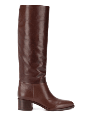 Prada pointed toe knee high boots - Brown