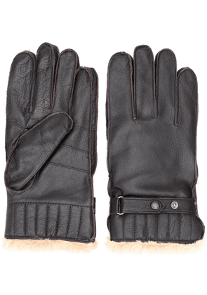 Barbour faux fur lined gloves - Brown