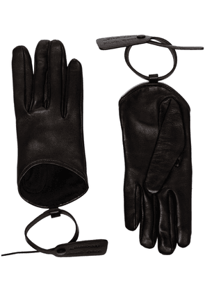 Off-White zip-tie detail gloves - Black