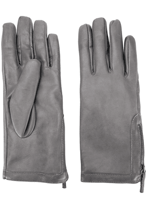 Fabiana Filippi textured side zip gloves - Grey