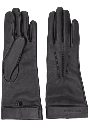 Isabel Marant classic leather gloves - Black