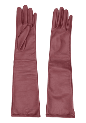 Maison Margiela red long-length gloves