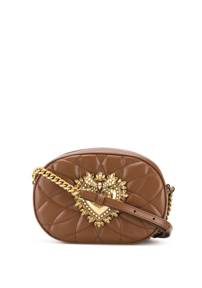 Dolce & Gabbana Devotion quilted camera bag - Brown