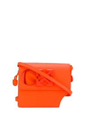 Off-White Arrows-motif cut-out shoulder bag - ORANGE
