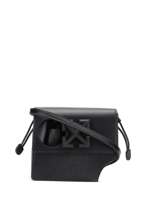 Off-White Arrows-motif cut-out shoulder bag - Black