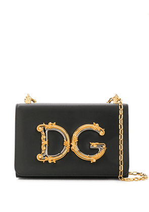 Dolce & Gabbana DG plaque crossbody bag - Black
