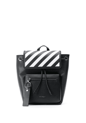 Off-White Diag leather backpack - Black